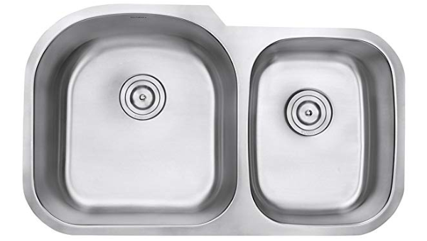 Ruvati 34 Inch Undermount 60 40 Double Bowl 16 Gauge Stainless Steel Kitchen Sink Rvm4600
