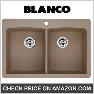 Blanco 441285 Diamond Double-Basin Drop-In Granite Kitchen Sink