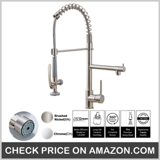 Fapully Commercial Pull-Down Kitchen Sink Faucet