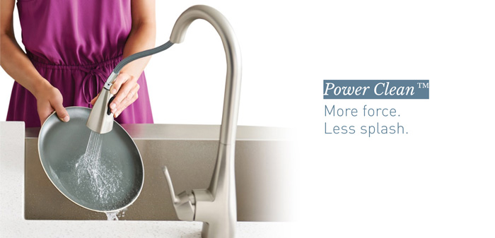 Moen Power Clean Technology